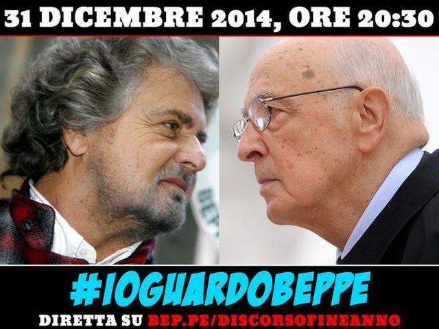 Grillo contro Napolitano – Discorso di Capodanno sul web