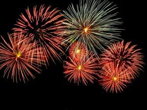 Albaro, spettacolo di fuochi d'artificio a tema natalizio