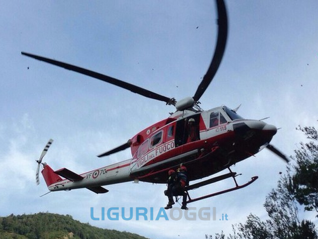 Incidente a Casarza Ligure, grave un motociclista