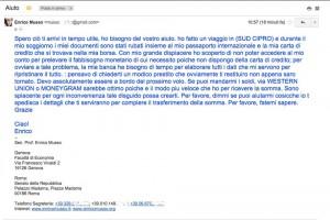 Enrico Musso vittima di un hacker