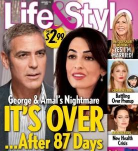 Clooney lascerà Amal?