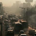 Smoggy Mexico City Street