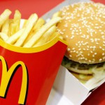 A McDonald?s Big Mac and chips are pictu