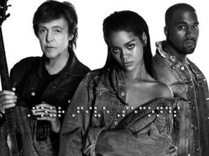 Rihanna canta con Paul McCartney e Kanye West