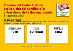 scheda elettorale Primarie PD Liguria