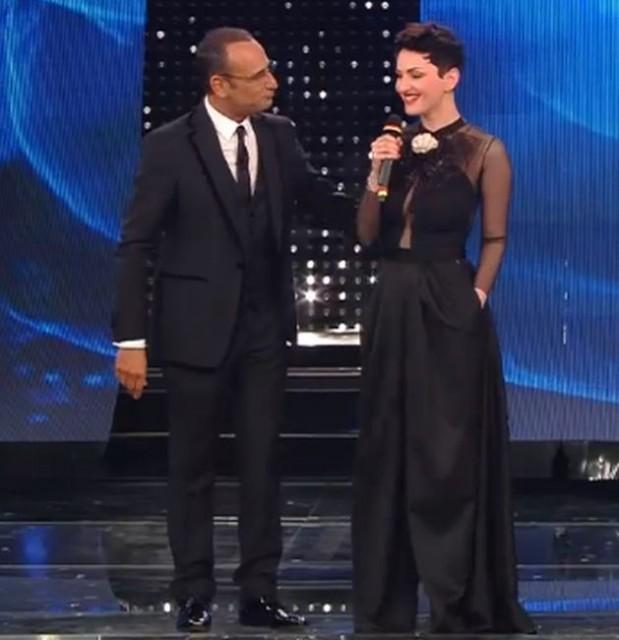 Sanremo 2015 – Arisa ancora senza reggiseno