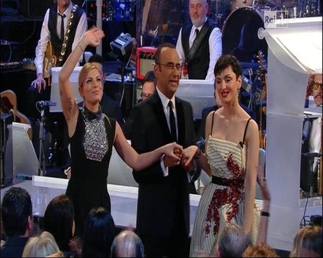 Sanremo 2015 – Ecco la prima classifica finale, tra intoppi e un errore su Nek