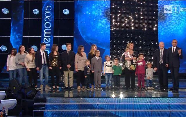 Sanremo 2015 – Polemiche per lo spot per le famiglie numerose