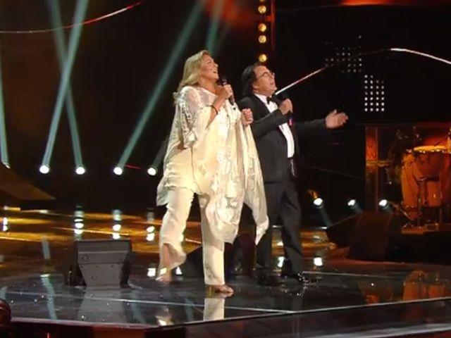 Sanremo 2015 – Romina e Albano sul palco tra il gelo dell'imbarazzo