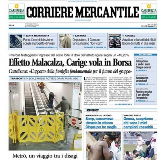 Corriere Mercantile – Consiglieri regionali si impegnano a sostenerlo