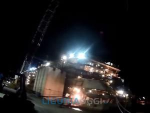 Costa Concordia verrà spostata nell'area cantieri navali