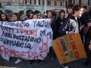 Corteo studenti in Centro a Genova