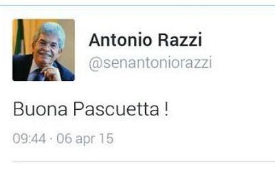 Antonio Razzi e gli auguri di Buona Pascuetta che fanno impazzire il Web