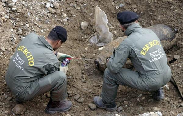 Savona, al via lavori per trovare bomba inesplosa in via Torino