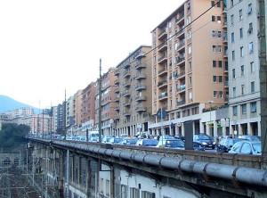 Incidente in corso Gastaldi, traffico rallentato verso il centro