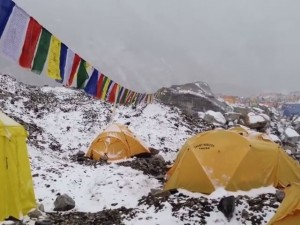 Video slavina su campo base Everest
