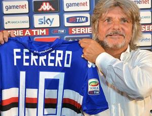 Nella foto, il presidente blucerchiato Massimo Ferrero