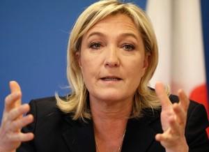 Nella foto, Marine Le Pen, leader del FN