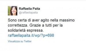 Raffaella Paita su Twitter