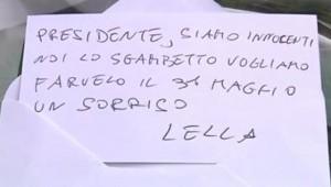 Biglietto di Lella Paita per Berlusconi