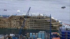 Relitto della Concordia viene trasferito