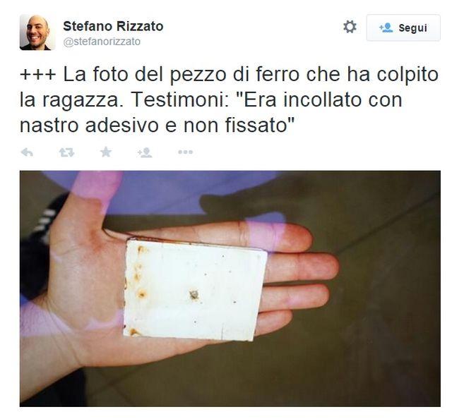 Expò 2015 – Turista ferita da grosso pezzo di metallo caduto