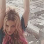 madonna capelli rosa