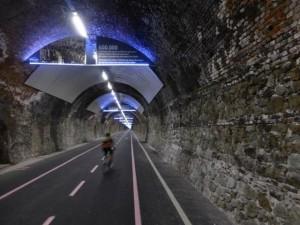 Suv bloccato sulla pista ciclabile di Sanremo