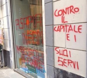 Info Point di Luca Pastorino vandalizzato