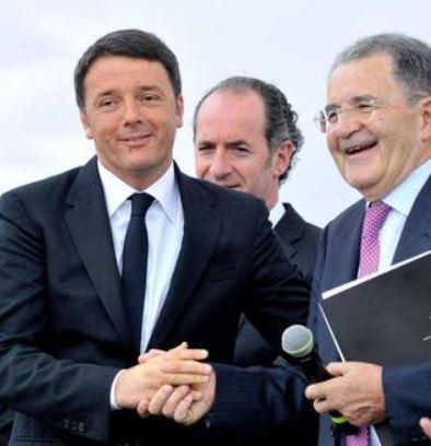 """Venezia – Renzi e Prodi """"fanno pace"""" con stretta di mano"""