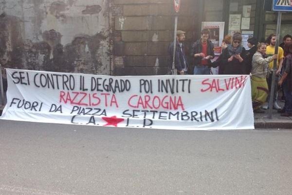 Liguria – Salvini a Sampierdarena: minacciato di morte