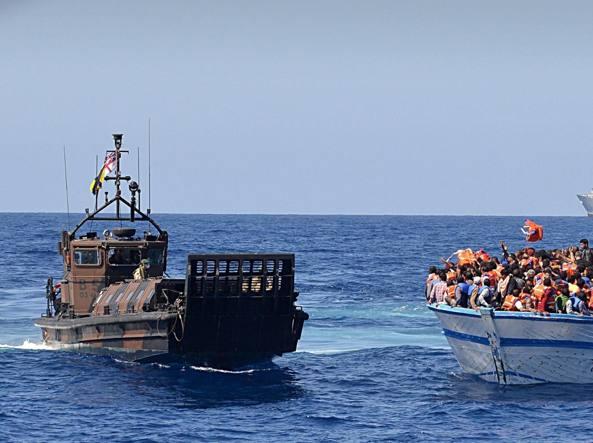 Maxi soccorso nel Mediterraneo