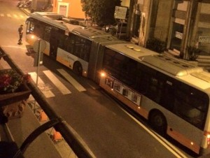 Autobus in panne a San Martino
