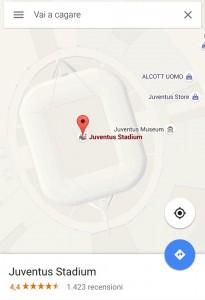 Juventus Stadium da burla con Google Maps