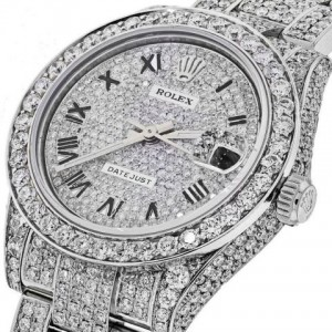 Rolex tempestato di diamanti