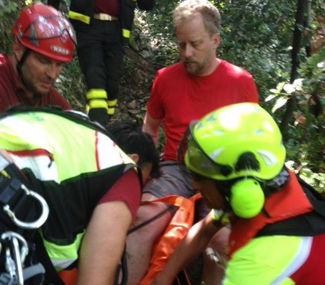 Escursionista tedesco ferito salvato alle 5 Terre