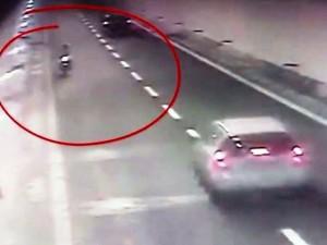 Contromano in moto in Autostrada