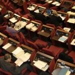 sala rossa consiglio comunale tursi banchi