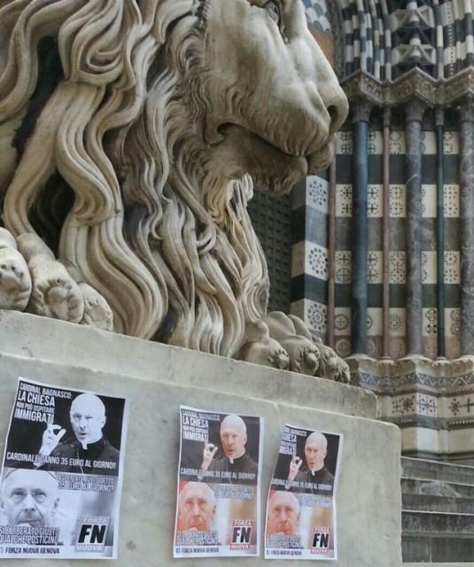 Immigrati – Forza Nuova contro il cardinale Angelo Bagnasco