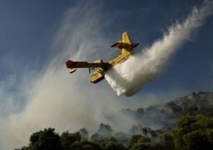 Incendio a Sant'Ilario, impegnato anche canadair