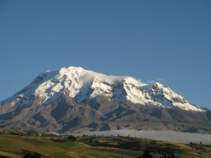 Vullcano Chimborazo in Ecuador