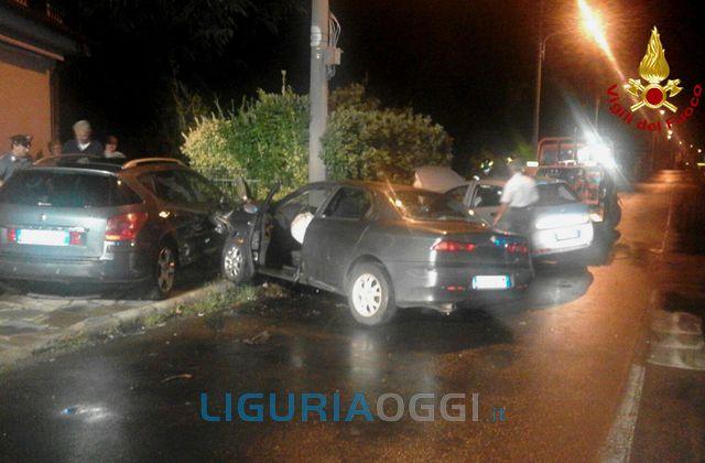 Sarzana – Incidente stradale sull'Aurelia, 3 feriti