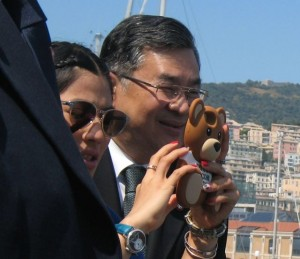 principessa Sirinnavari in visita a Genova