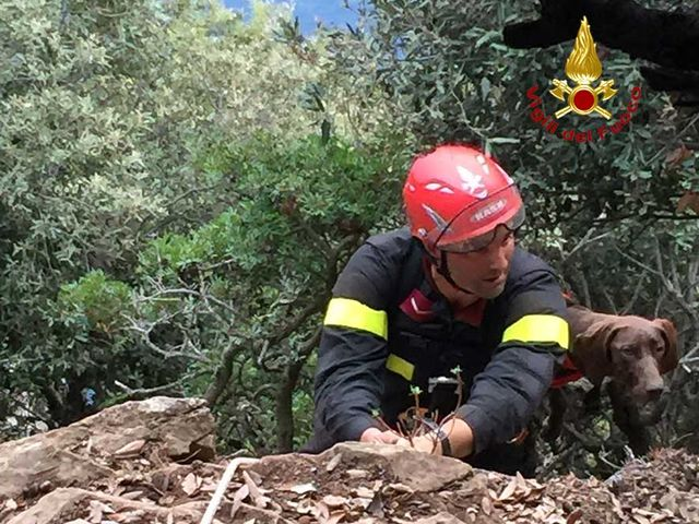 Isola Palmaria – Cane e padrone salvati dai vigili del fuoco