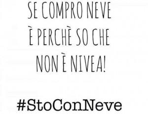 #StoConNeve, la campagna sui Social
