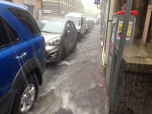 Maltempo – Nubifragio su Genova, strade allagate e disagi