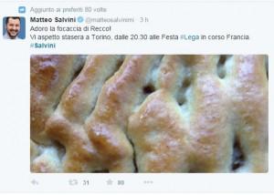 profilo Twitter di Matteo Salvini (Lega Nord)