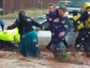 Alluvione al confine tra Utah e Arizona