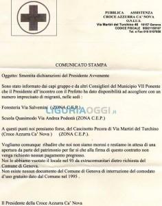 Croce Azzurra smentisce il presidente Avvenente