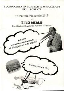 Voltri - Comitati in manifestazione per il premio Pinocchio a Luigi Merlo